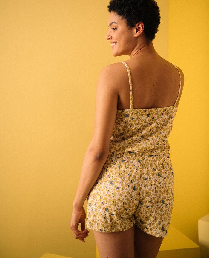 Short de pyjama Liberty ivoire Tam tam shaker