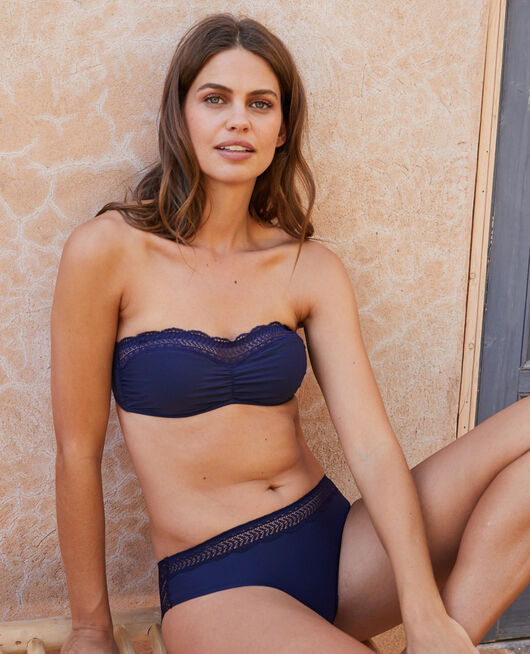 Strapless bra Navy Duo