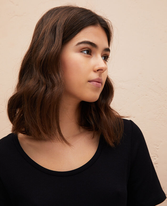 Short sleeve t-shirt Black Latte