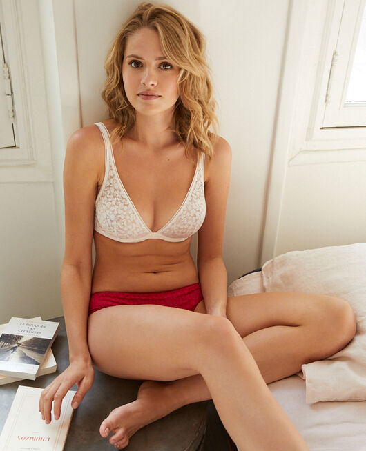 Underwired triangle bra Rose white Birdy