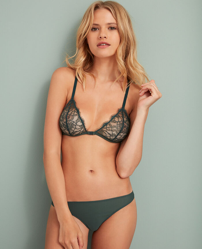 Soft cup bra Story green Taylor