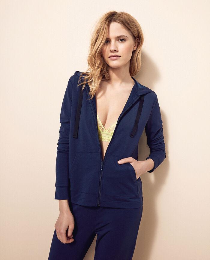 Veste à capuche molleton Bleu marine Air loungewear