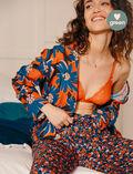 Veste de pyjama Marguerite brun Crepuscule