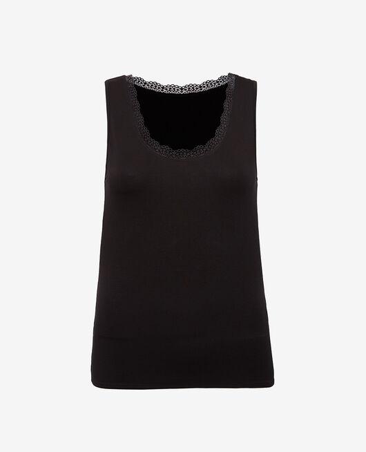 Vest top Black Heattech© extra warm