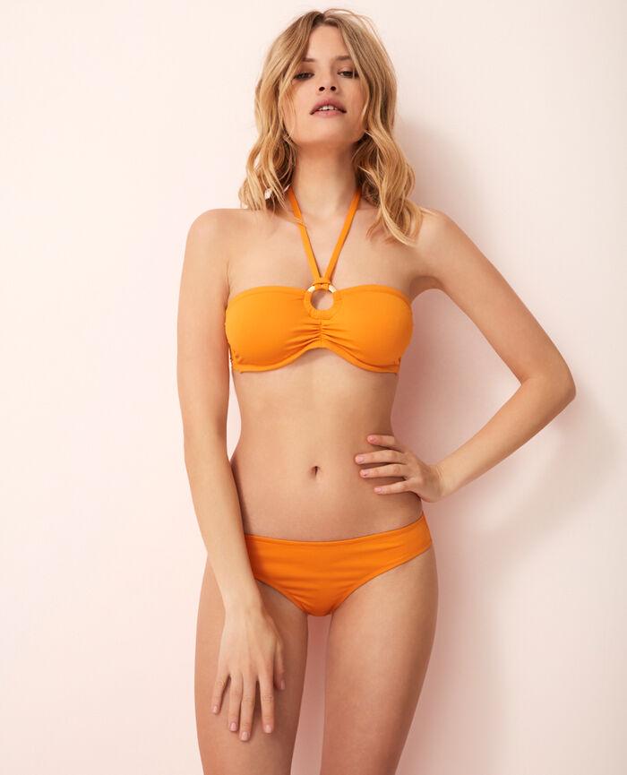 Concealed underwired strapless bikini top Maya orange Isaia