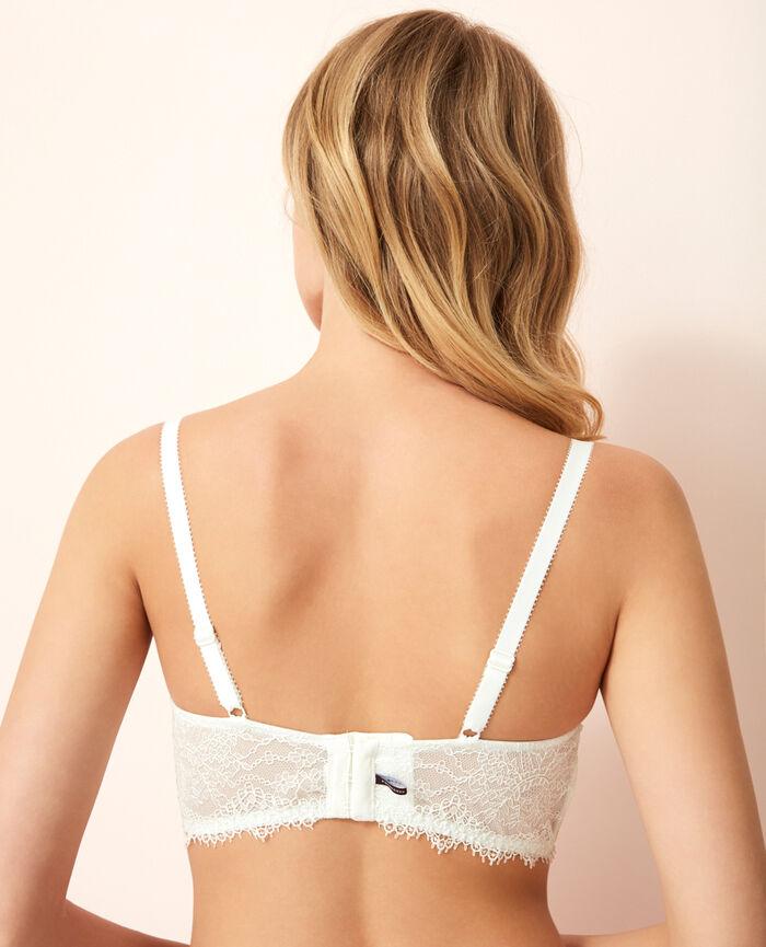 Bustier bra Ivory Chantilly