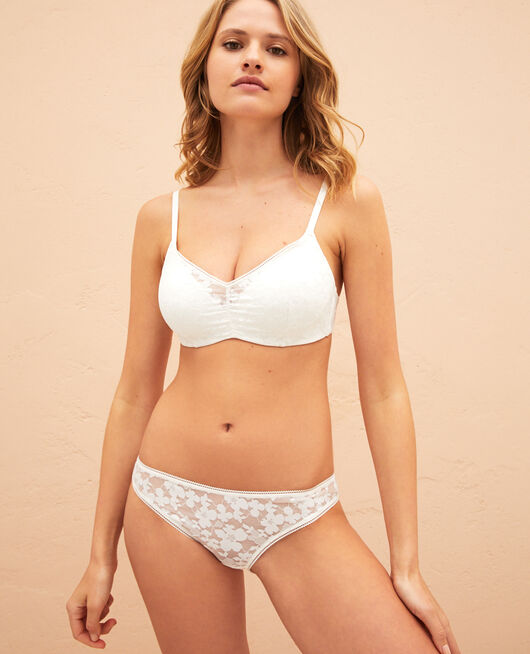 Soft moulded triangle bra Ivory Lumiere