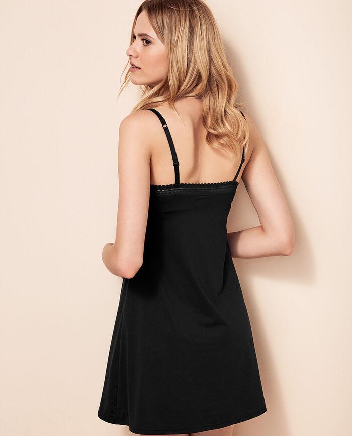 Robe avec soutien-gorge intégré Noir Beaute