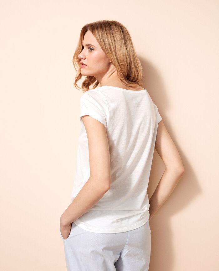 T-shirt manches courtes Ivoire Latte