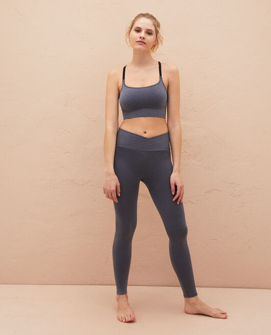 Legging de sport Gris chiné Yoga