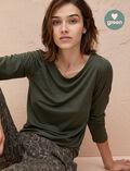 T-shirt manches longues Vert mousse Latte organic