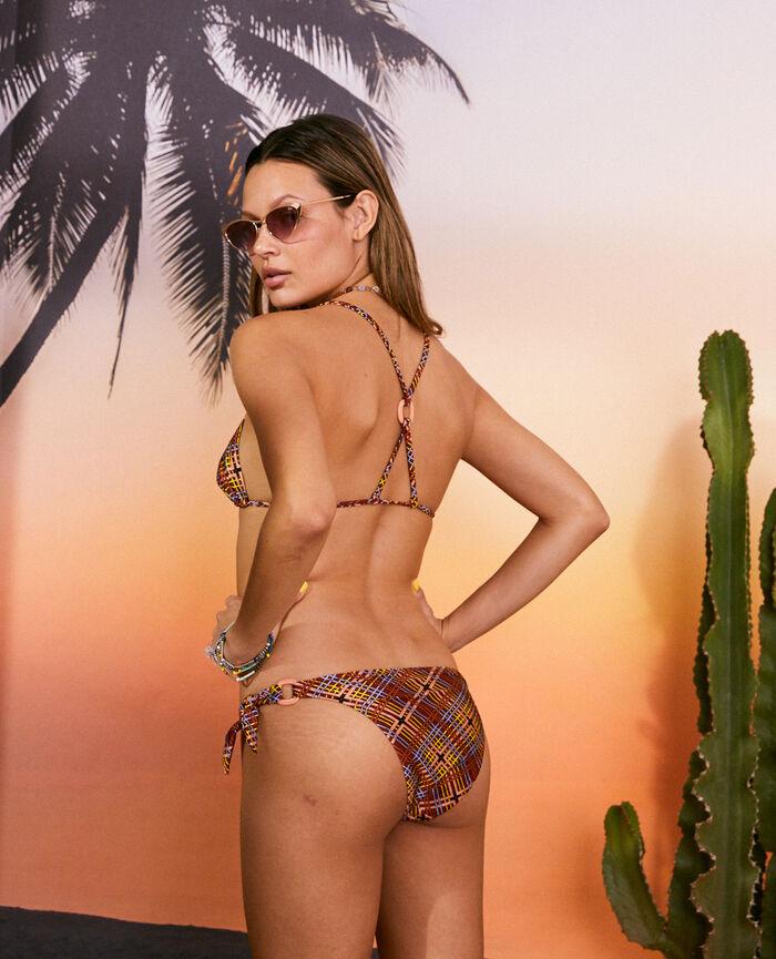 Padded triangle bikini top Scarf brown Vacanze