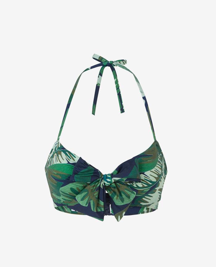 Concealed underwired strapless bikini top Multicolour Voyage voyage