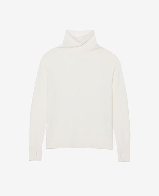 Pull col roulé Ivoire Cosy