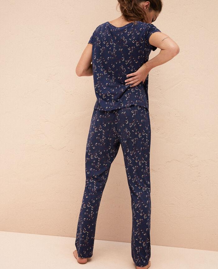 Pantalon de pyjama Automne bleu Latte