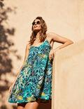 Robe Palme bleu Fancy viscose