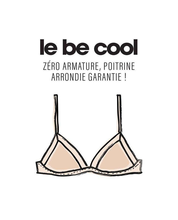 Soft cup bra Black Confetti - the be cool