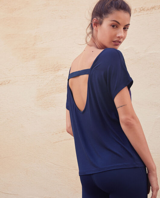 Sport short-sleeved t-shirt Navy Yoga