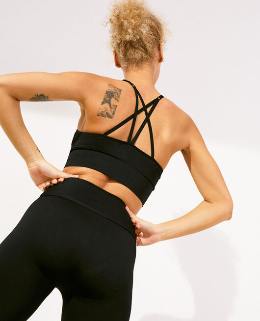 Sports bra light support Black Yoga