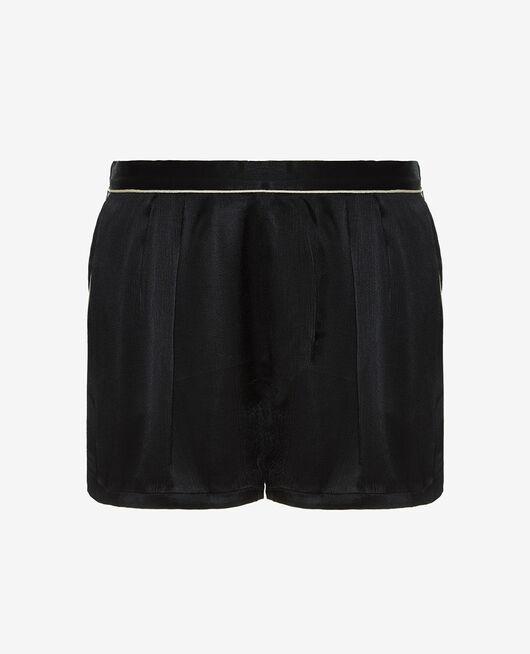 Short de pyjama Noir Subtil