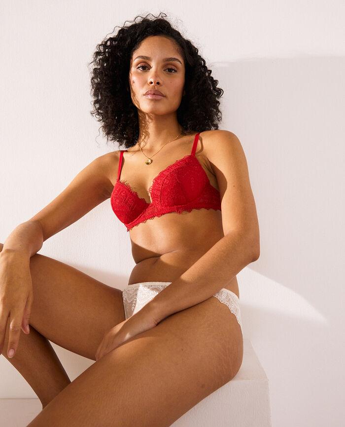 Padded push-up bra Idol red Amour