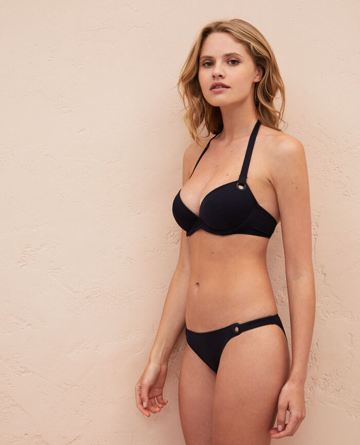 Push-up bikini top Black Impala
