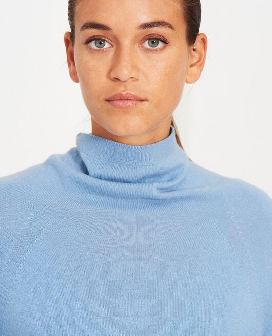 Turtle-neck jumper Ash blue Cosy