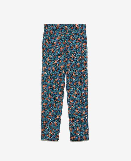 Pantalon carotte Rossignol bleu marine Paresse print