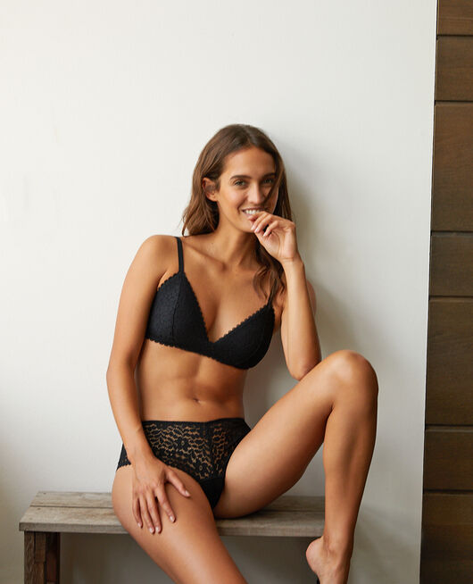 Triangle padde bra Black Monica