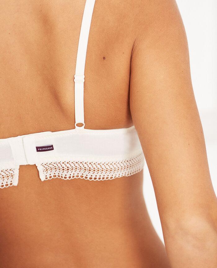 Wireless bra Cream white Coton