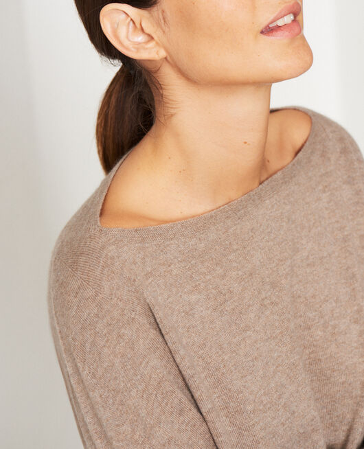 Boatneck jumper Natural beige Cosy