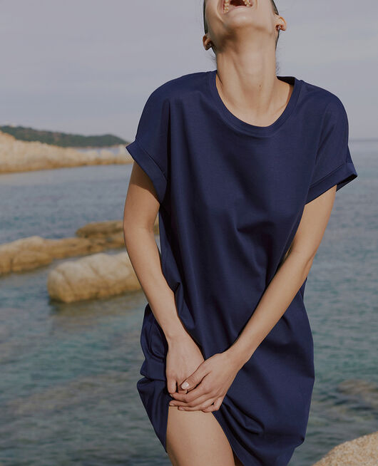 Dress Navy Supima tee shirt