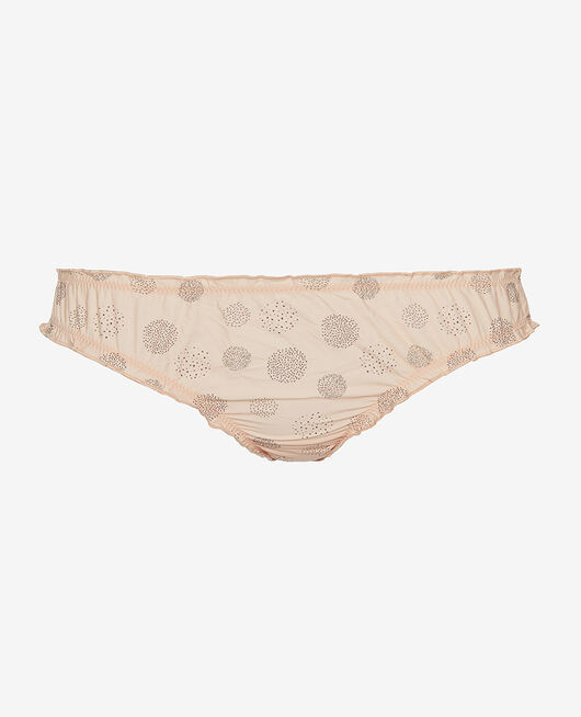 Ruffle brief Powder beige relief Take away