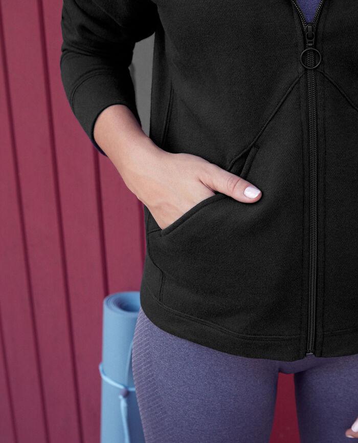 Veste de sport zipée Noir Yoga