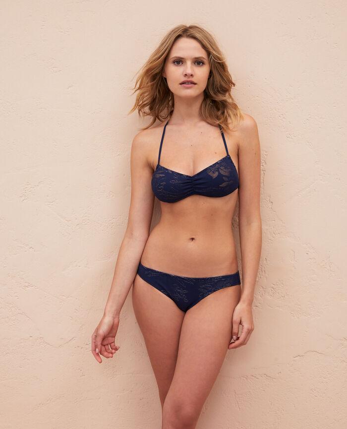 Padded strapless bikini top Midnight blue Gueliz