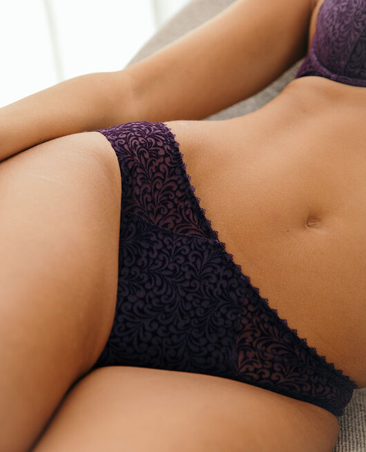 Culotte taille basse Bleu cabaret Velvet