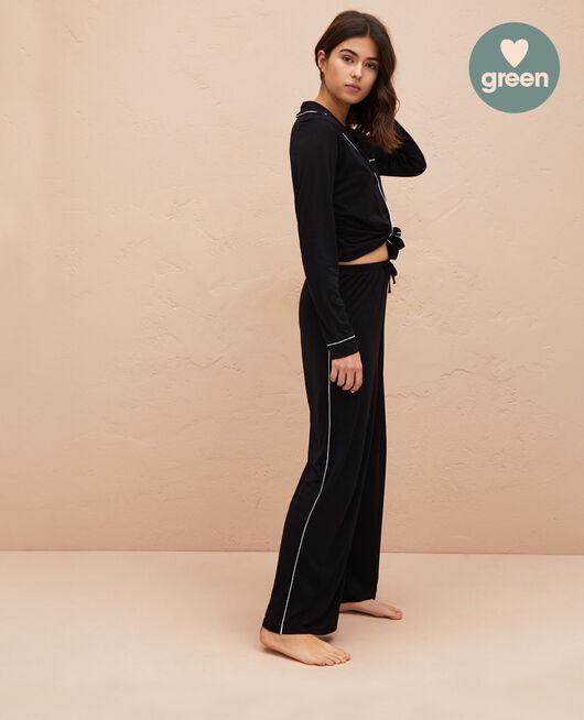 Pyjama trousers Black Latte organic