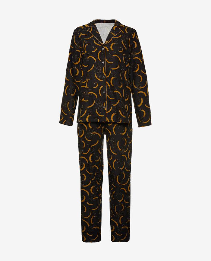 Pyjama set Elder black Flanelle