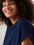T-shirt manches courtes Bleu marine Supima