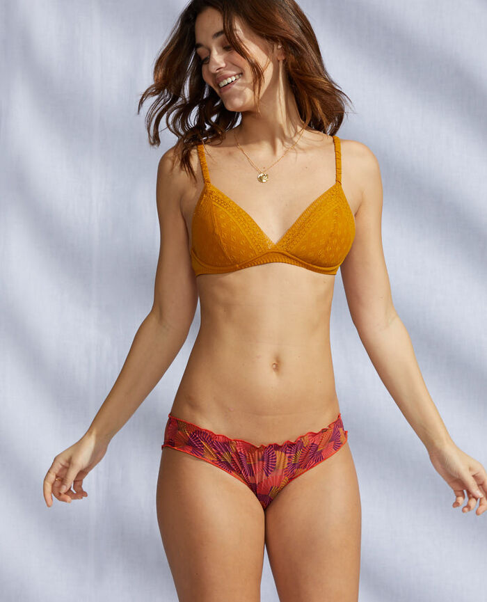 Culotte fantaisie Eventail rouge tangerine Take away