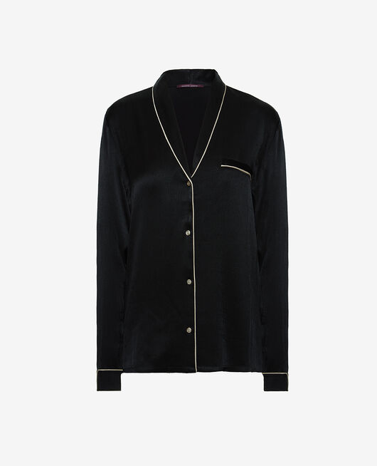 Veste de pyjama Noir Subtil