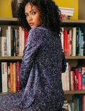 Pyjama jacket Floral blue Dimanche