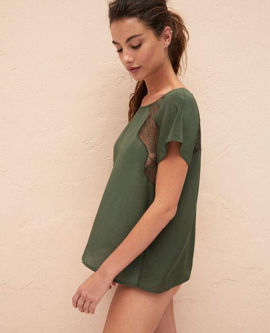 Top de pyjama Vert mousse Divine