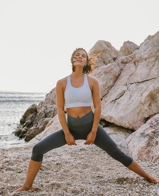 Brassière maintien léger Bleu ciel Yoga