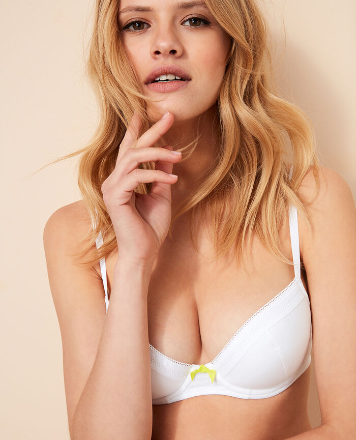 Padded push-up bra White Coton