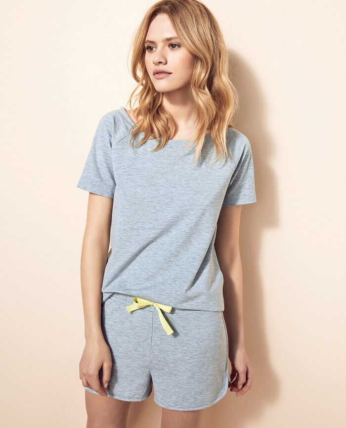 Short-sleeved t-shirt Flecked grey Air loungewear
