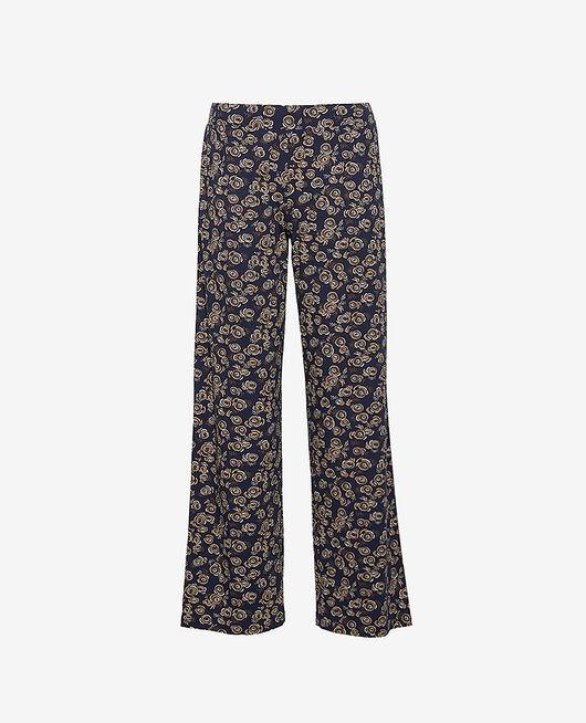Pantalon Fiesta bleu marine Dimanche print