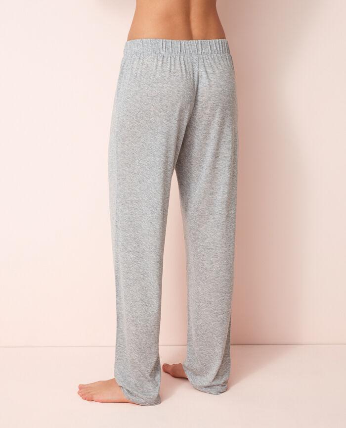 Pyjama trousers Flecked grey Latte