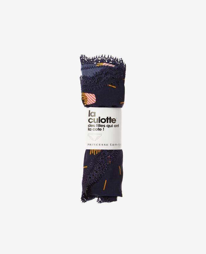 Culotte taille basse Frites bleu Take away