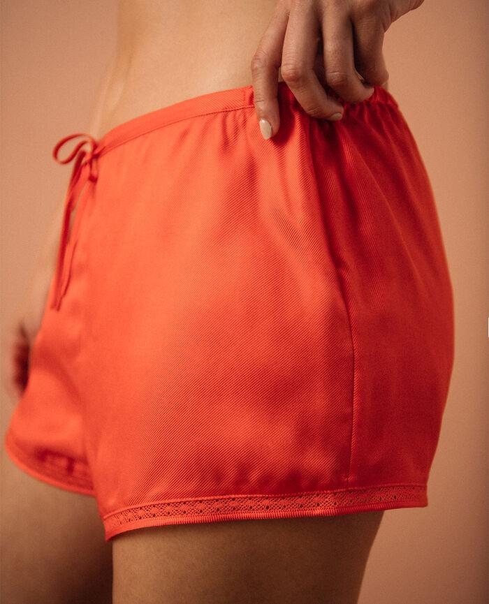 Short de pyjama Orange Poesie